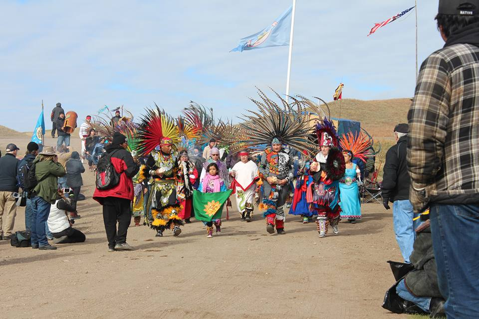 #AyoyotesOnTheGround evokes sacred drum beats across the U.S. and Mexico against the Dakota Access Pipeline