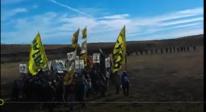 Solidarity with Standing Rock: Front line video of police attack on Sat 10/22/16
