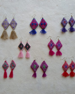 Ojo de Dios Mexican Earrings de Manta (Bulk sale)